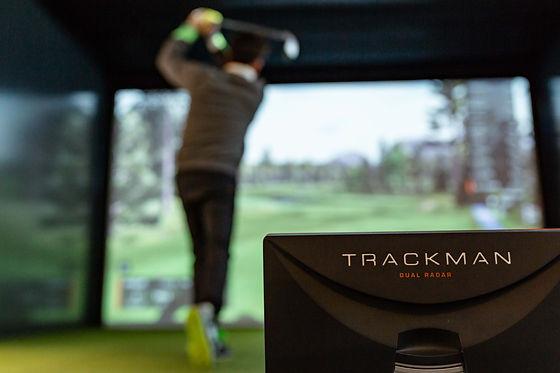 Trackman Virtual Golf at The Gower Golf Studio, Swansea.