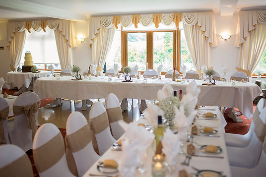 Large Function Room at The Gower Golf Club.