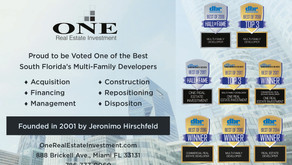 Proud to be Voted One of the Best South Florida´s Multi-Family Developers
