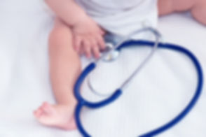 Baby with Stethoscope