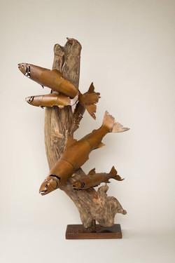 Classic Fish on Wood Base