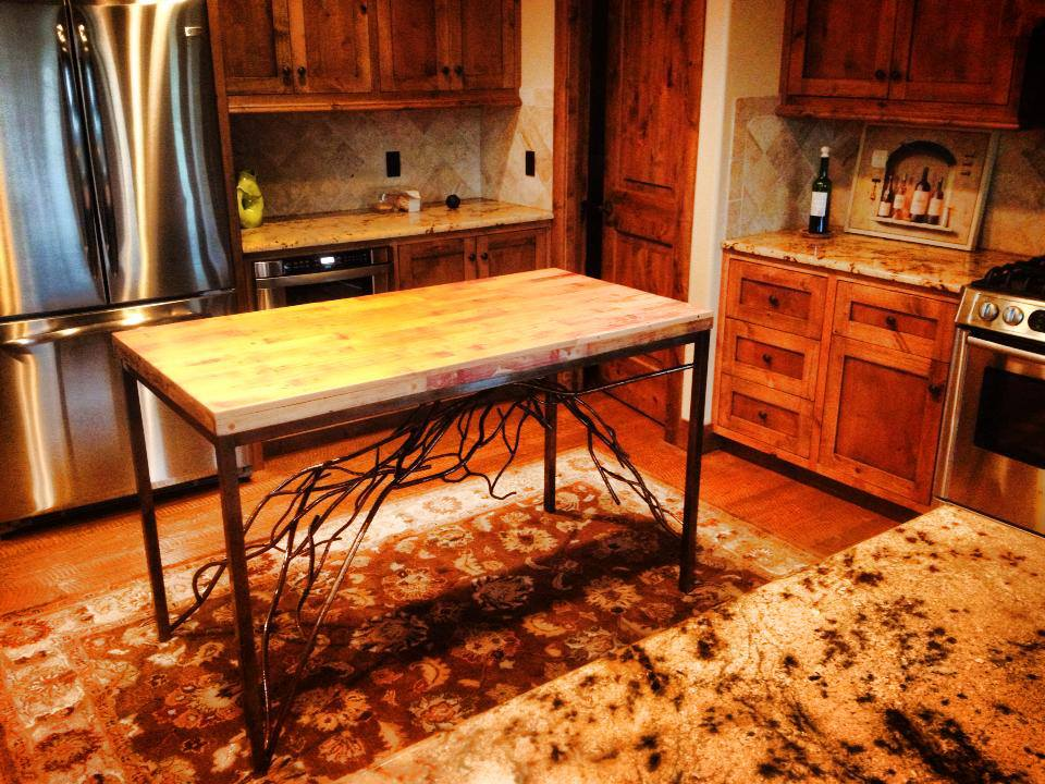 Branch Butcher Block Table