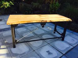 Industrial Wood Slab Table
