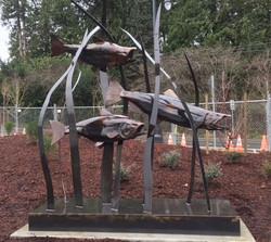 Large Salmon Sculpture