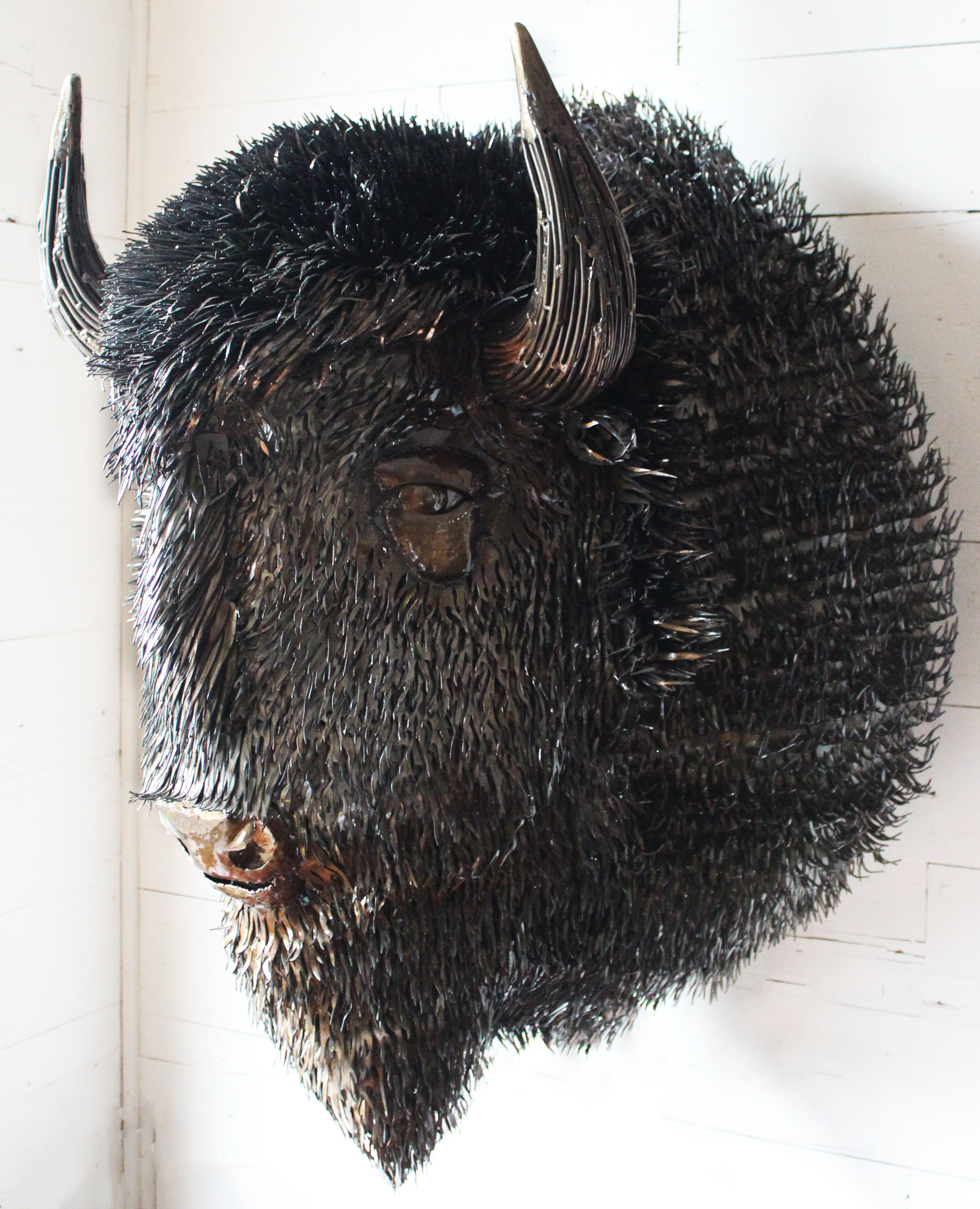 Life Size Bison Should Mount
