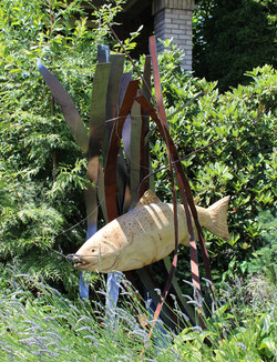 Metal and Wood Fish
