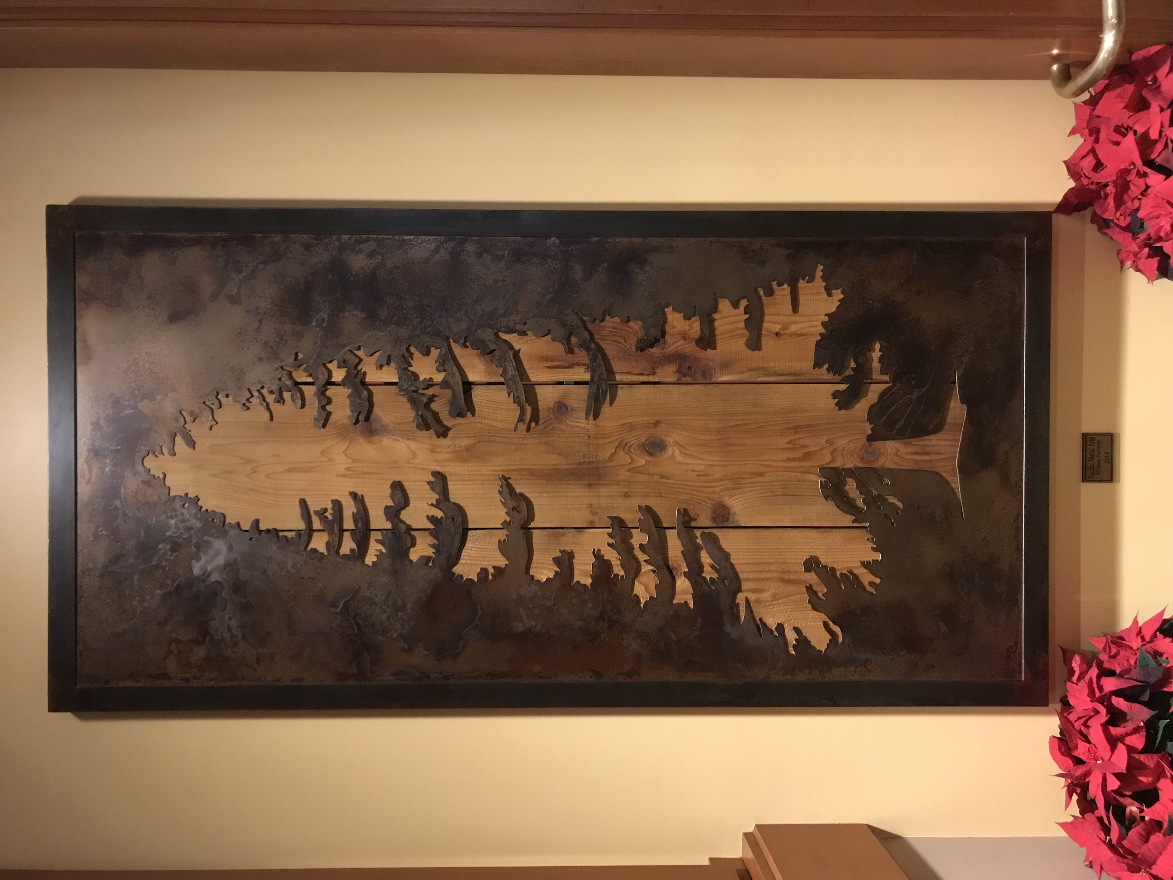 Large Wall Piece In Lodge
