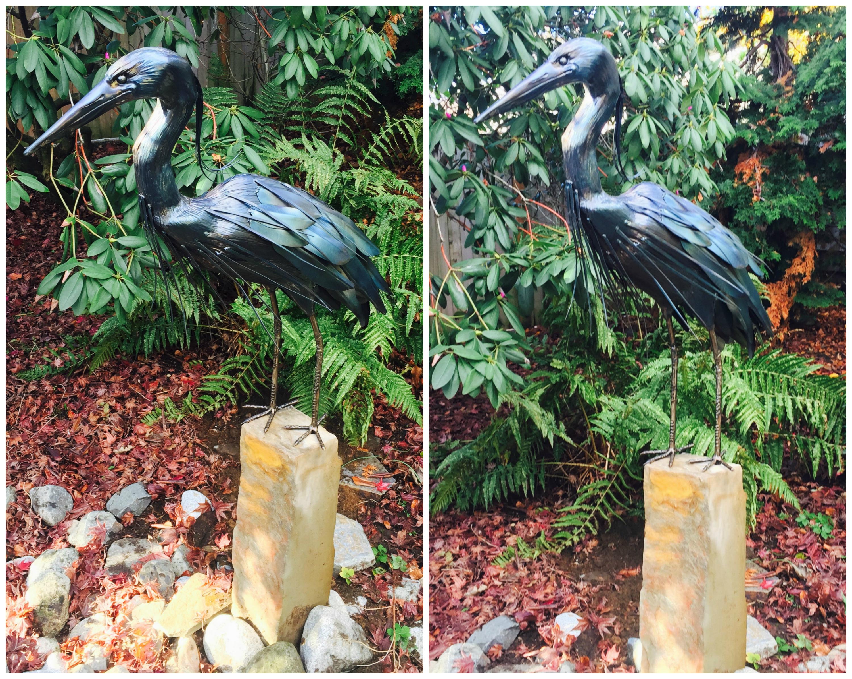 Great Blue Heron Sculpture