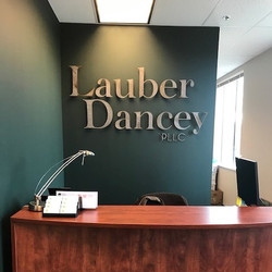 Stud Mounted Business Sign