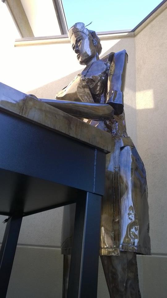 Large Baker Lady Sculpture