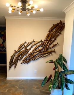 Wall Fish Sculpture