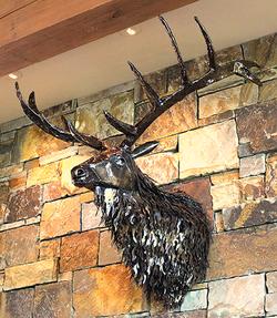 Elk Shoulder Mount Sculpture