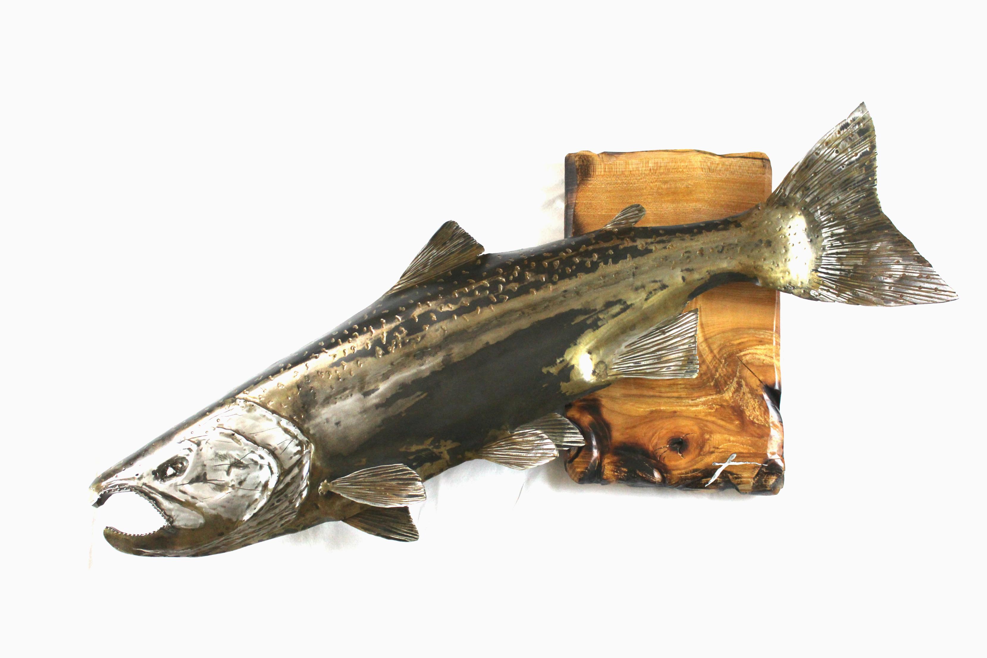 Cinook Salmon Sculpture