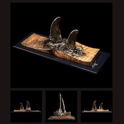 Small Steel Orca Fin Sculpture