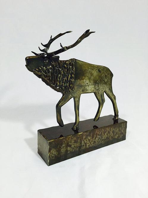 Desktop Elk Sculpture
