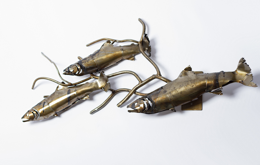 Classic Fish & Branch Sculpture