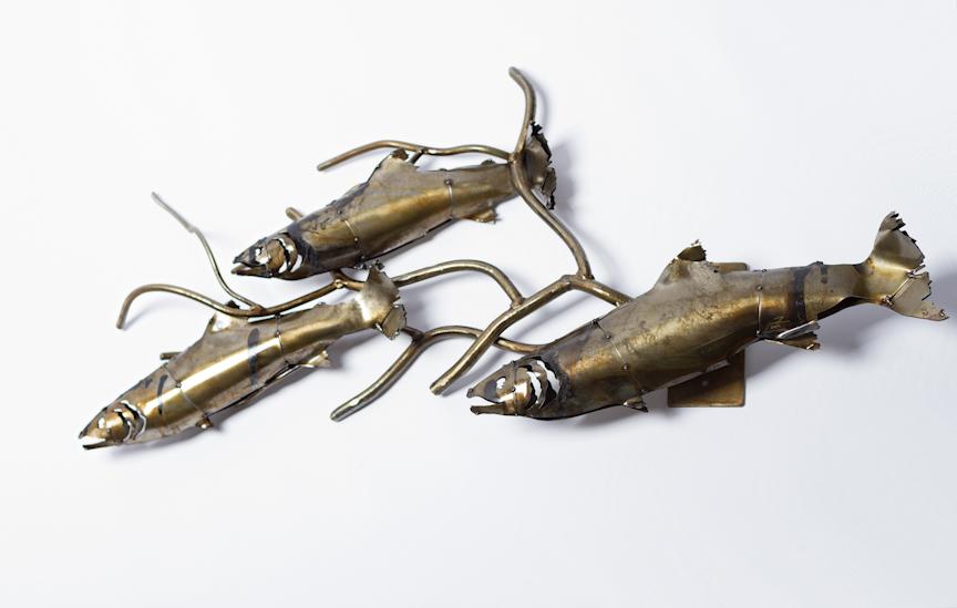 Classic Fish & Branch Sculpture