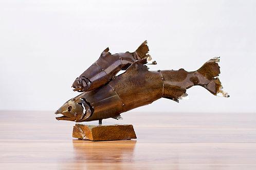 Double Fish Sculpture
