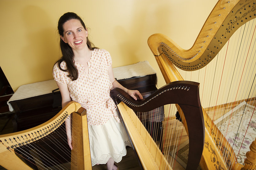 Erin Wood, Harpist, Venus harp, Lyon and Healy Ogden, Dusty Strings harp