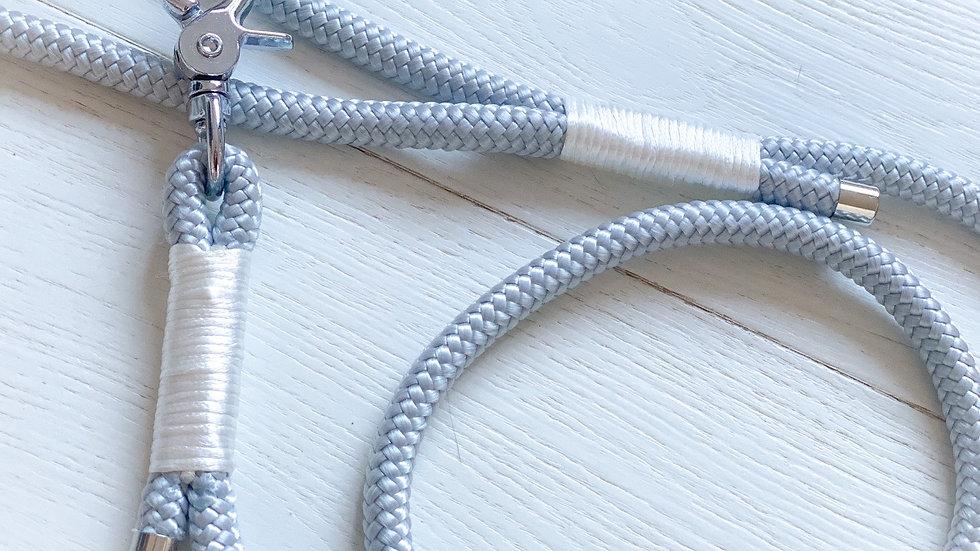Silver Leaf Satin Rope