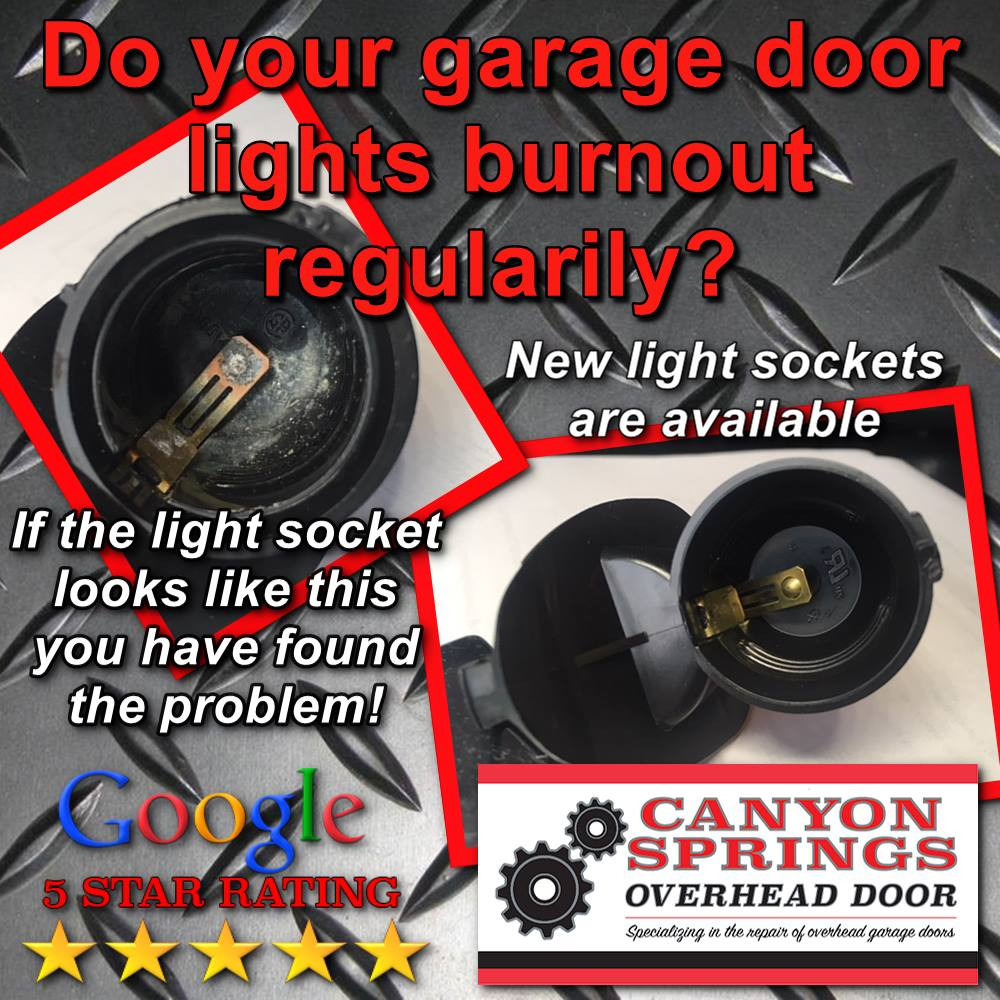 If you seem to be going through allot of lightbulbs in your garage door