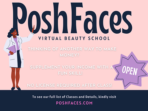 PoshFaces Mink Lash 101 Virtual Class BUNDLE w/KIT included