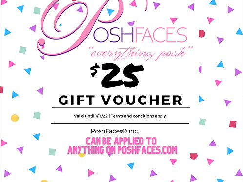 POSHFACES GIFT CARDS