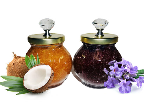 Sisters Lavender & Coconut Oil Body Scrub Set