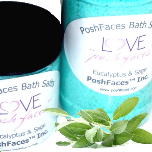 Posh Faces Bath Salts 8 oz & 10 oz Set