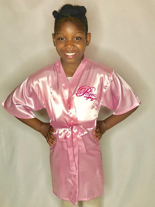 POSHFACES™  Children's Satin Robe