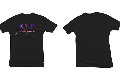 "POSHFACES™ ""Love"" T-Shirts S M L"