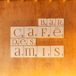 Rótulo Interior Cafe Bar Des Amis