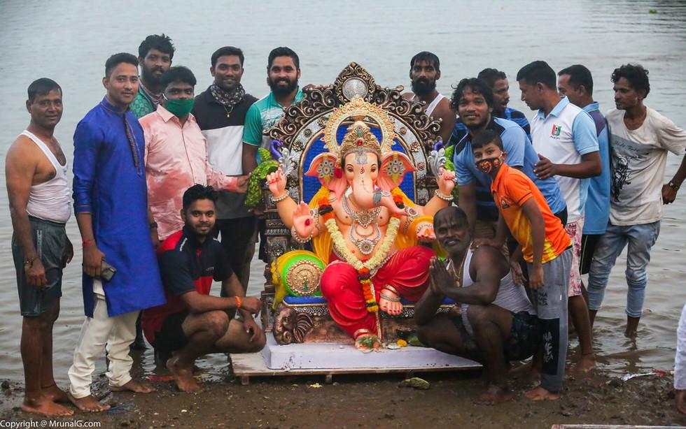 Ganesha visarjana 2020 at Taramumbari Devgad