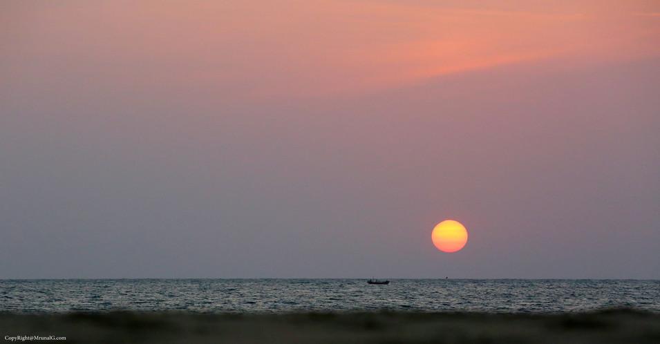 Sunset at Mithmumbri beach