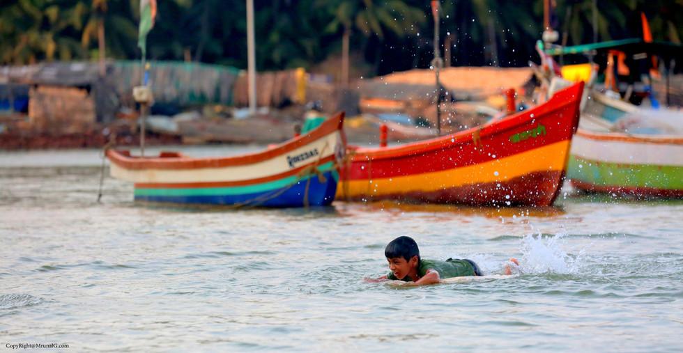 Learning to swim in the Taramumbri back waters