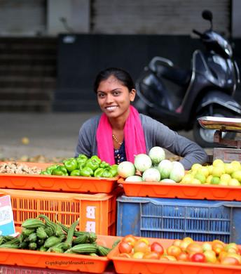 Lady farmer at Sus-Pashan road