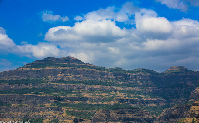 The Harishandragad visible from Malshej ghat area