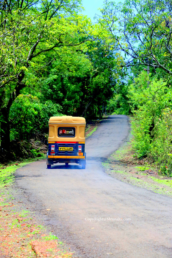 Upward going road from Malai to Devgad college area.