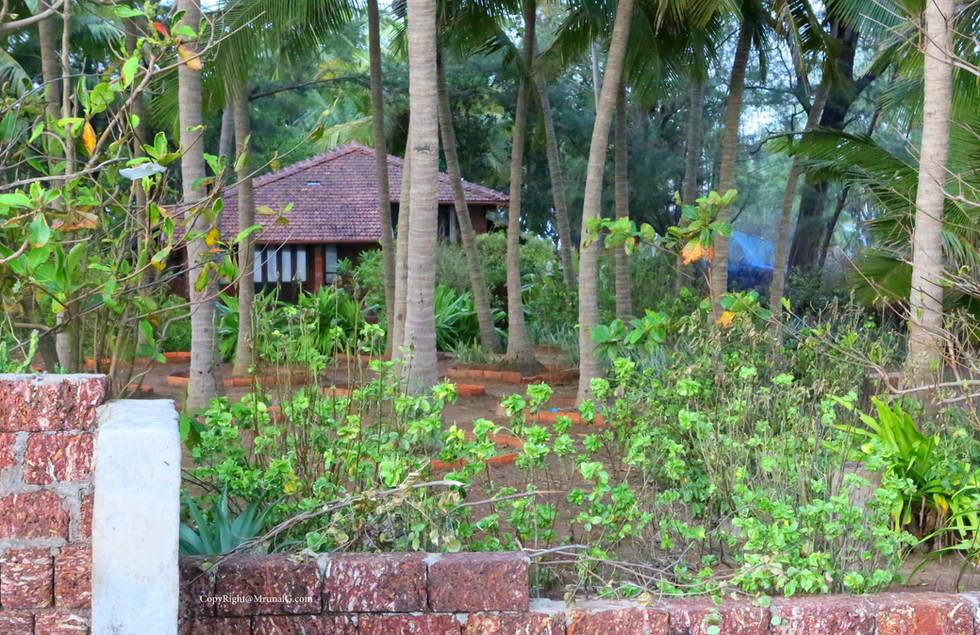 A beach house setting.