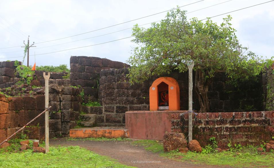 Hanuman temple at Devgad Fort area