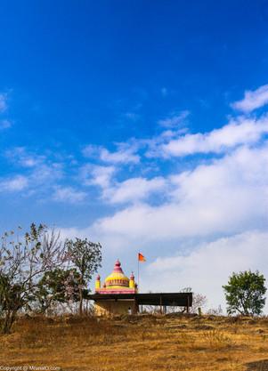 Malhar temple on a hill top near Chande village