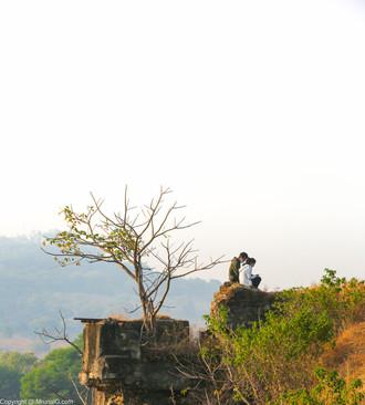 Couple at the Vetal tekdi