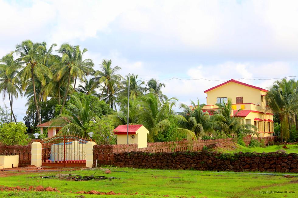 New modern villa houses.