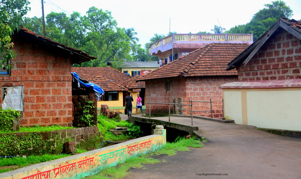 A typical village group house setting.