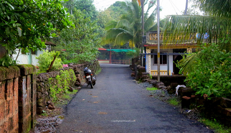 Rural roads passing through villages