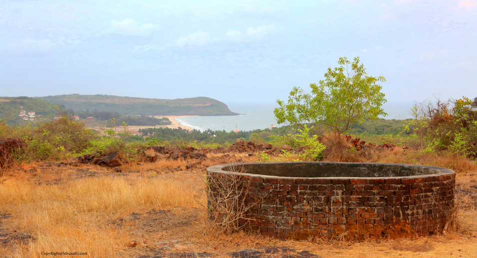 View of Kunkeshwar beach from a remote nearby hilltop