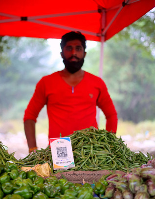 Farmers with UPI payment