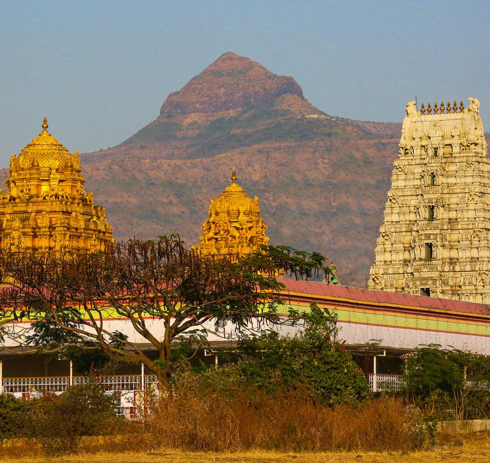 The Tirupati Balaji replica temple on the way to Saswad Pune