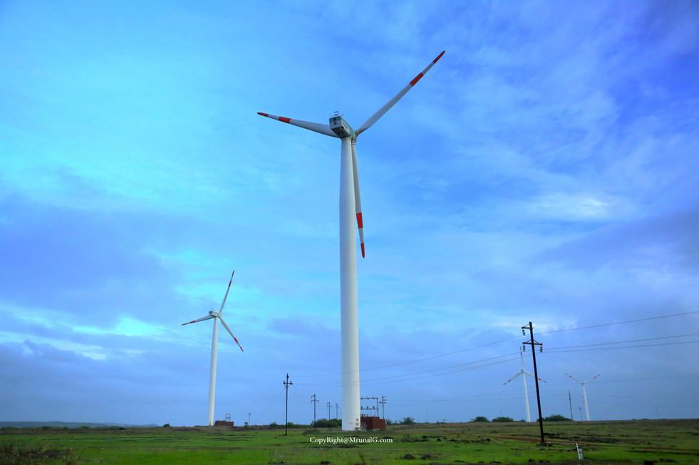 Devgad windmills next to Devgad beach