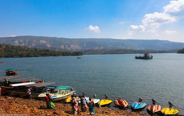 The Tapola lake formed by the Koyna backwaters